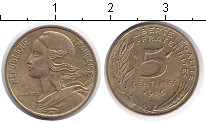 Изображение Дешевые монеты Франция 5 сантим 1986