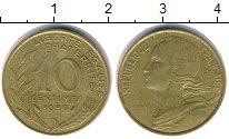 Изображение Дешевые монеты Европа Франция 10 сантим 1989 Медь XF