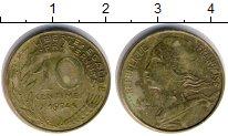 Изображение Дешевые монеты Европа Франция 10 сантим 1974 Медь VF