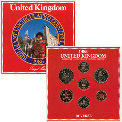 Изображение Подарочные монеты Европа Великобритания Регулярный выпуск 1985 года 1985  Proof