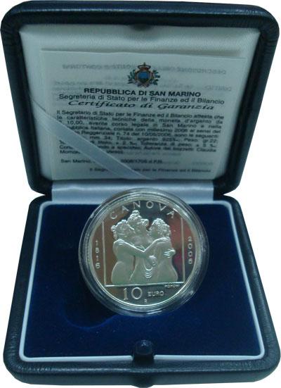 Изображение Подарочные монеты Сан-Марино Антонио Канова 2006 Серебро Proof