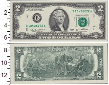 Изображение Банкноты США 2 доллара 2003  UNC