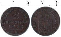 Изображение Монеты Пруссия 2 пфеннига 1852 Медь VF A