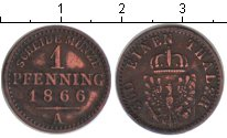 Изображение Монеты Германия Пруссия 1 пфенниг 1866 Медь XF