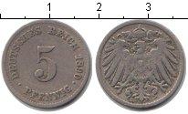 Изображение Монеты Европа Германия 5 пфеннигов 1890 Медно-никель