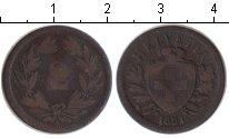 Изображение Монеты Европа Швейцария 2 раппа 1851 Медь VF