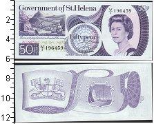 Изображение Банкноты Остров Святой Елены 50 пенсов 0  UNC