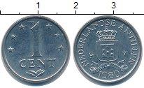 Изображение Дешевые монеты Антильские острова 1 цент 1980