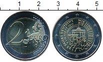 Изображение Мелочь Германия 2 евро 2015 Биметалл UNC A. 25 лет объединени