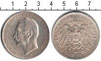 Изображение Монеты Баден 5 марок 1913 Серебро XF Фридрих II.