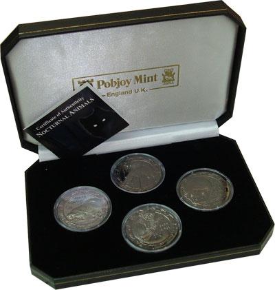 Изображение Подарочные монеты Африка Сьерра-Леоне Ночные животные 2008 Серебро Proof