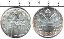 Изображение Монеты Европа Ватикан 1000 лир 1988 Серебро UNC-