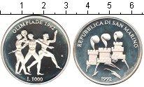 Изображение Монеты Сан-Марино 1000 лир 1992 Серебро Proof-