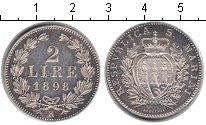 Изображение Монеты Европа Сан-Марино 2 лиры 1898 Серебро XF