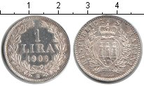 Изображение Монеты Европа Сан-Марино 1 лира 1906 Серебро XF