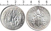 Изображение Монеты Ватикан 1000 лир 1989 Серебро XF