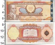 Изображение Банкноты Северная Америка Гаити 20 гурдес 2001  UNC-