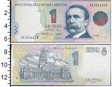 Изображение Банкноты Южная Америка Аргентина 1 песо 0  UNC