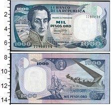 Изображение Банкноты Южная Америка Колумбия 1000 песо 0  UNC