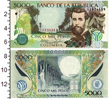 Изображение Банкноты Колумбия 5000 песо 2013  UNC Портрет Х. Асунсьона
