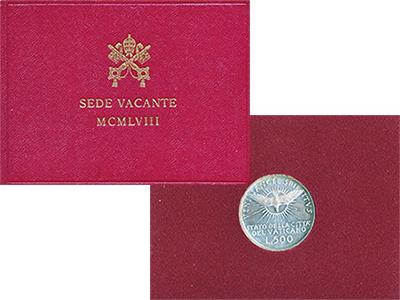 Изображение Подарочные монеты Европа Ватикан Седе Ваканте 1958 1958 Серебро