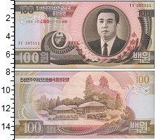 Изображение Банкноты Азия Северная Корея 100 вон 0  UNC-