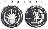 Изображение Монеты Азия Бангладеш 1 така 1992 Серебро Proof