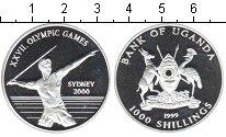 Изображение Монеты Африка Уганда 1000 шиллингов 1999 Серебро Proof