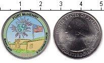 Изображение Цветные монеты США 1/4 доллара 2013 Медно-никель UNC- Форт Мак-Генри