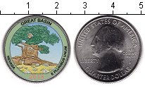 Изображение Цветные монеты США 1/4 доллара 2013 Медно-никель UNC Национальный парк Гр