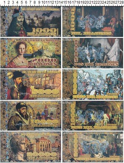 Изображение Банкноты Южная Америка Колумбия 38000 драгонес 2014  UNC