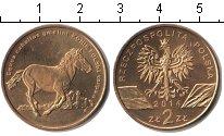 Изображение Мелочь Польша 2 злотых 2014 Латунь UNC Польский конь