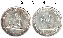 Изображение Монеты Европа Италия 100 лир 1988 Серебро UNC-