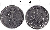 Изображение Дешевые монеты Не определено 1 франк 1974 Медно-никель VF