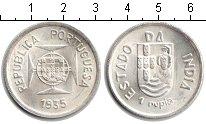 Изображение Мелочь Португальская Индия 1 рупия 1935 Серебро UNC-
