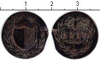 Изображение Монеты Франкфурт 1 пфенниг 1819 Медь  Нотгельд