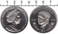 Изображение Мелочь Виргинские острова 1 доллар 2014 Медно-никель UNC Нельсон Мандела