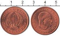Изображение Мелочь Африка Сьерра-Леоне 1 цент 1964 Медь UNC-