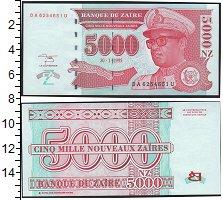 Изображение Банкноты Конго Заир 5000 заир 1995  UNC-