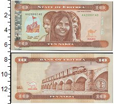 Изображение Банкноты Африка Эритрея 10 накфа 2012  UNC