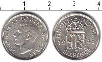 Изображение Монеты Европа Великобритания 6 пенсов 1945 Серебро XF