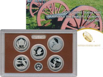 Изображение Подарочные монеты США Квотеры 2015 Медно-никель Proof