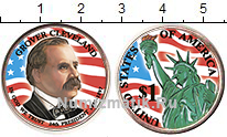 Изображение Цветные монеты США 1 доллар 2012  UNC 24 президент. Гловер