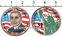 Изображение Цветные монеты США 1 доллар 2014 Латунь UNC