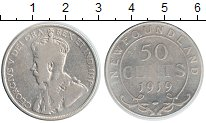 Изображение Монеты Канада Ньюфаундленд 50 центов 1919 Серебро VF