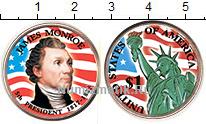 Изображение Цветные монеты США 1 доллар 2008 Латунь UNC 5-й президент США Дж