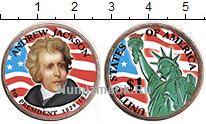 Изображение Цветные монеты США 1 доллар 2008 Медно-никель UNC- 7-й президент США Эн