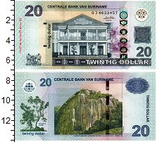 Изображение Банкноты Суринам 20 долларов 2010  UNC
