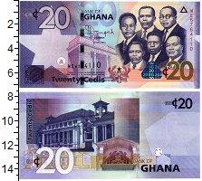 Изображение Банкноты Гана 20 седи 2014  UNC