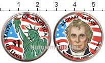 Изображение Цветные монеты США 1 доллар 2009  UNC- 12-й президент США.